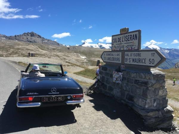 V sedle Col de l'Iseran - 2770m.
