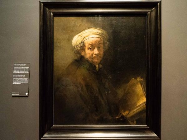 Rembrandt - autoportrét.