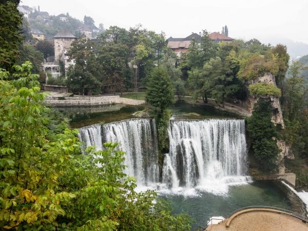Vodopád v centru města Jajce