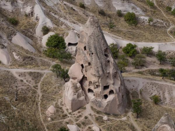 Pohled z hradu dolů.