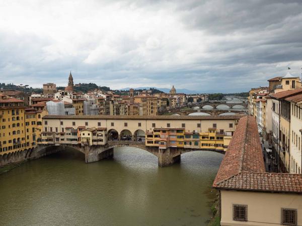 Ponte Vecchio - foceno ze 3. patra galerie Uffizi.
